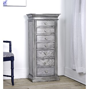 Canora Grey Aitkin Standing Jewelry Armoire with Mirror