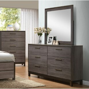 Lehner 6 Drawer Double Dresser with Mirror