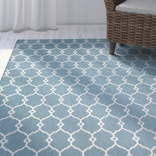 Halliday Power Loom Blue Indoor/Outdoor Area Rug