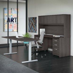 Bush Business Furniture Studio C 5 Piece Desk Office Suite