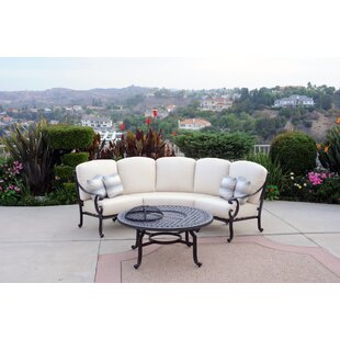 Milano 2 Piece Sofa Set with Cushions by Meadow Decor
