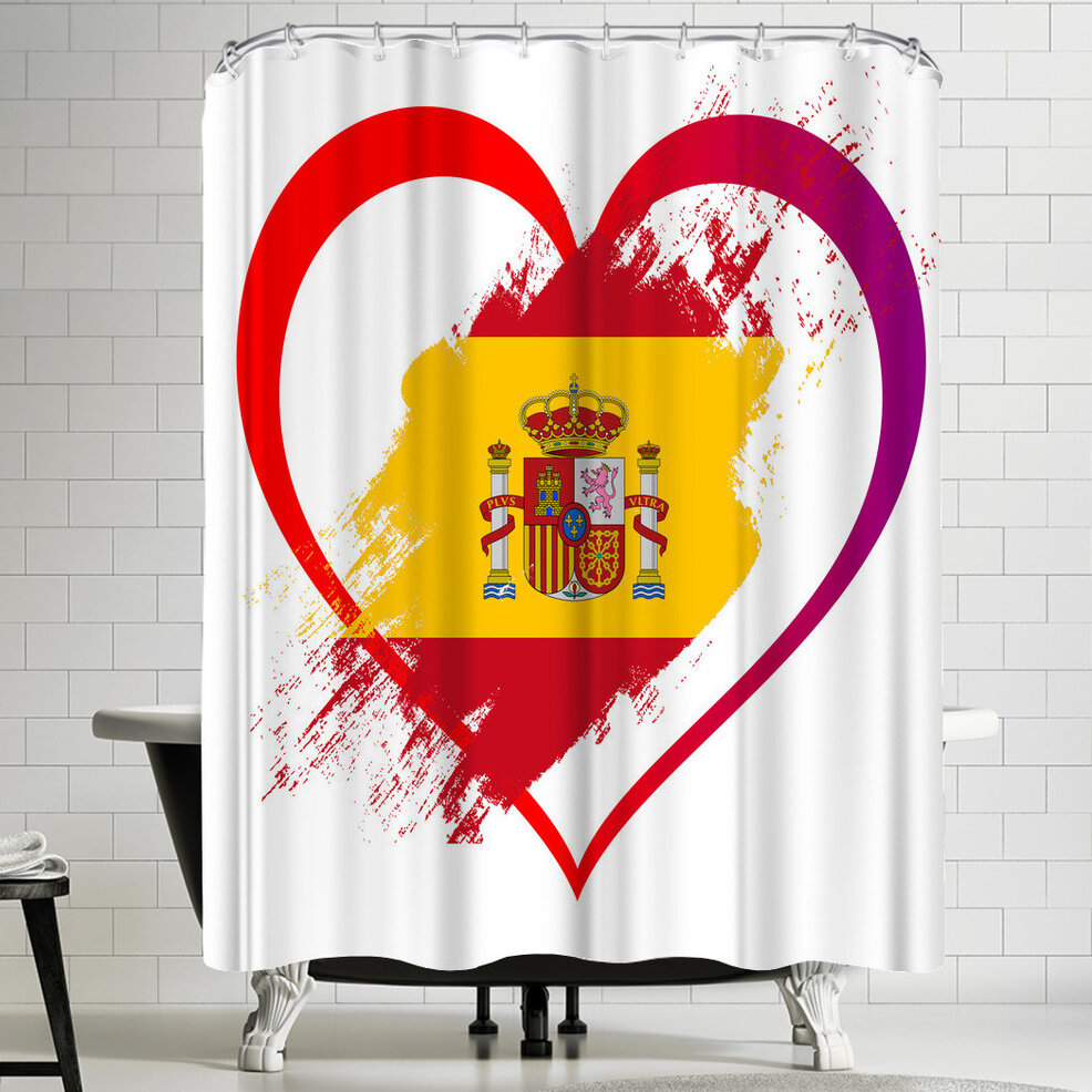 East Urban Home Wonderful Dream Heart Spain Single Shower Curtain Wayfair