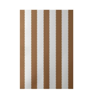 Stripe Hand-Woven Brown Indoor/Outdoor Area Rug