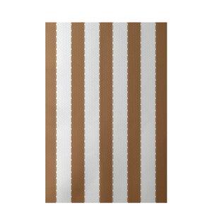 Stripe Hand-Woven Brown Indoor/Outdoor Area Rug
