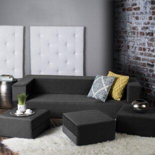 Eugene Modular Sleeper Sofa with Ottomans by Zipcode Design