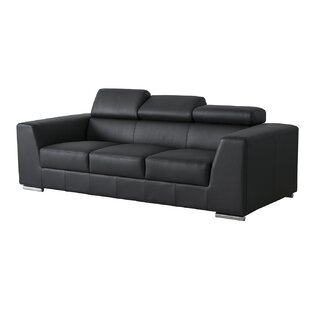Cesca Leather Sofa by Orren Ellis