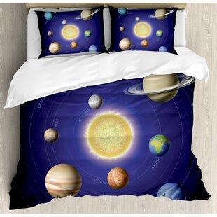 space solar system duvet set - Space Bedding