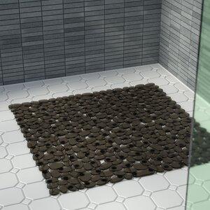 Conesville Stall Pebbles Vinyl Shower Mat