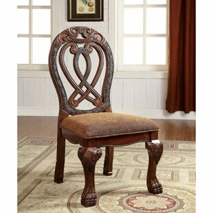 Barrymore Solid Wood Dining Chair (Set of 2) Astoria Grand