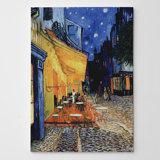 «The Café Terrace» par Vincent Van Gogh, reproduction sur toile