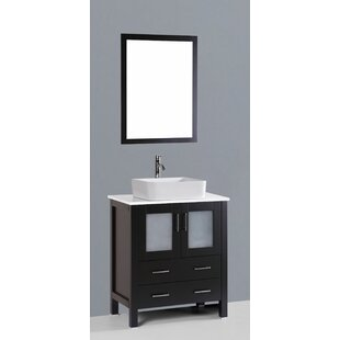 Check Prices Netto 30 Single Bathroom Vanity Set with Mirror By Ebern Designs