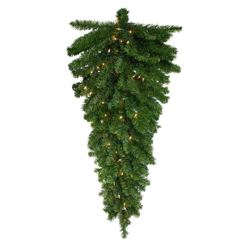 Pre Lit Canadian Pine Artificial Christmas Light Teardrop Swag