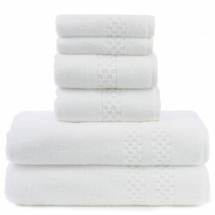Chloris 6 Piece 100% Cotton Towel Set