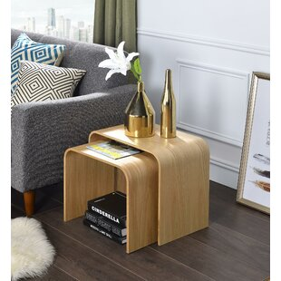 Read Reviews Drewry Bentwood 2 Piece Nesting Tables By George Oliver