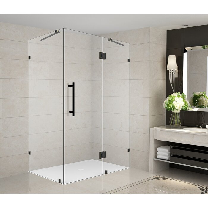 Aston Avalux 36 X 72 Hinged Frameless Shower Door Wayfair