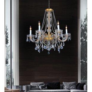 Astoria Grand Yigal Gold 6-Light Chandelier
