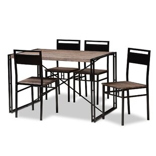 Mizell 5 Piece Dining Set Williston Forge