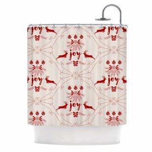 Great Price Famenxt Christmas Joy Shower Curtain ByEast Urban Home