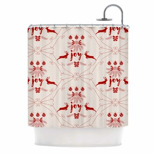 Famenxt Christmas Joy Single Shower Curtain