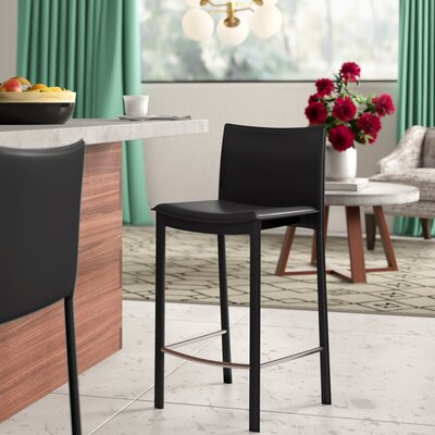 Faux Leather Full Back Bar Stools You Ll Love In 2020