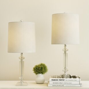 Lichtenstein Crystal Column 21 Table Lamp (Set of 2)