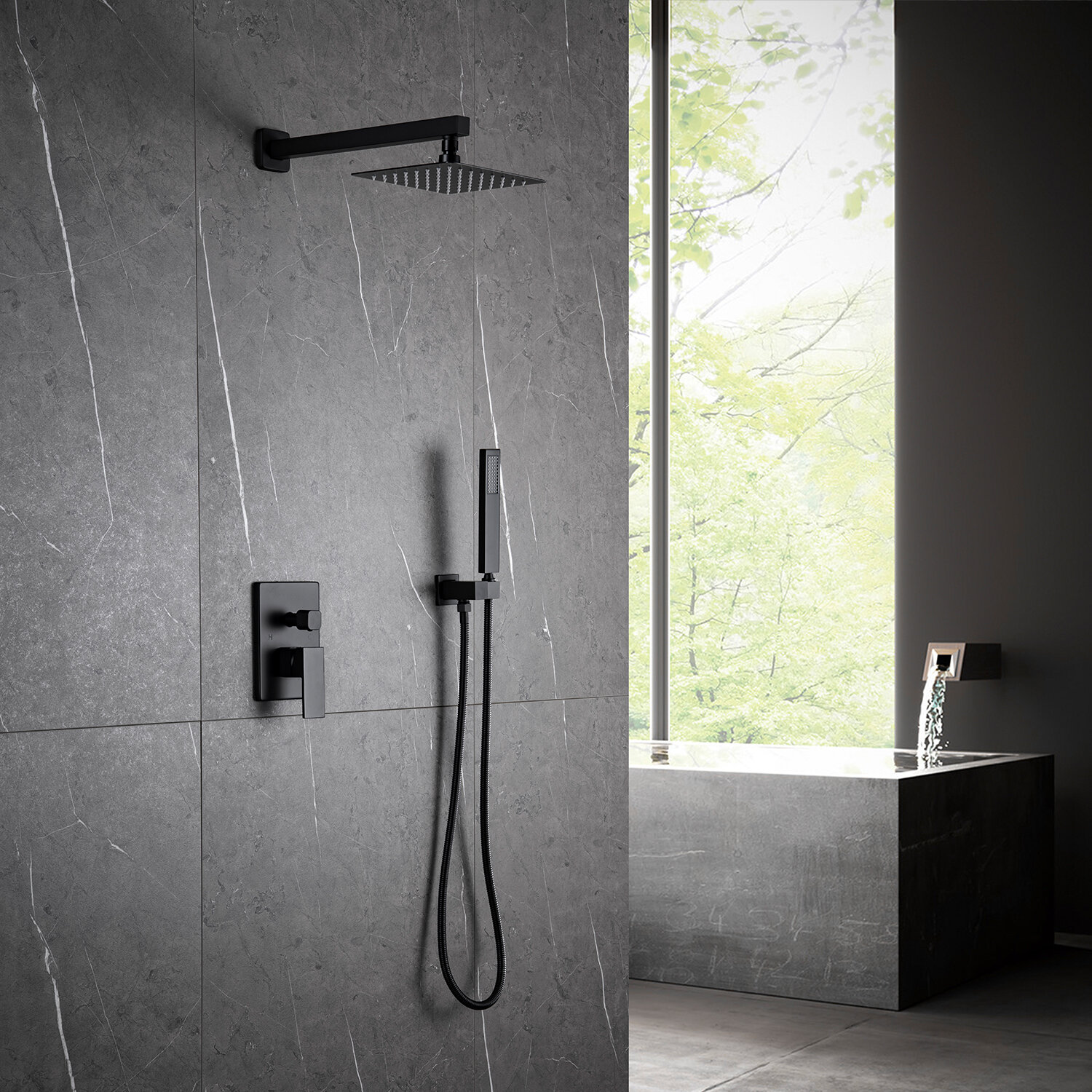 Modland Pressure Balanced Complete Shower System With Rough In Valve Reviews Wayfair