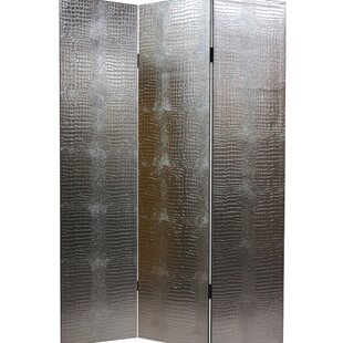 Compare prices Glenside Weir 3 Panel Room Divider By Willa Arlo Interiors