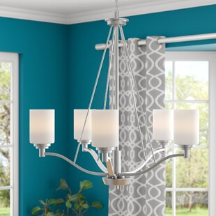 Andover Mills Hester 5-Light Shaded Chandelier