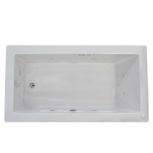 Guadalupe Dream Suite 72 inch  x 42 inch  Rectangular Air & Whirlpool Jetted Bathtub