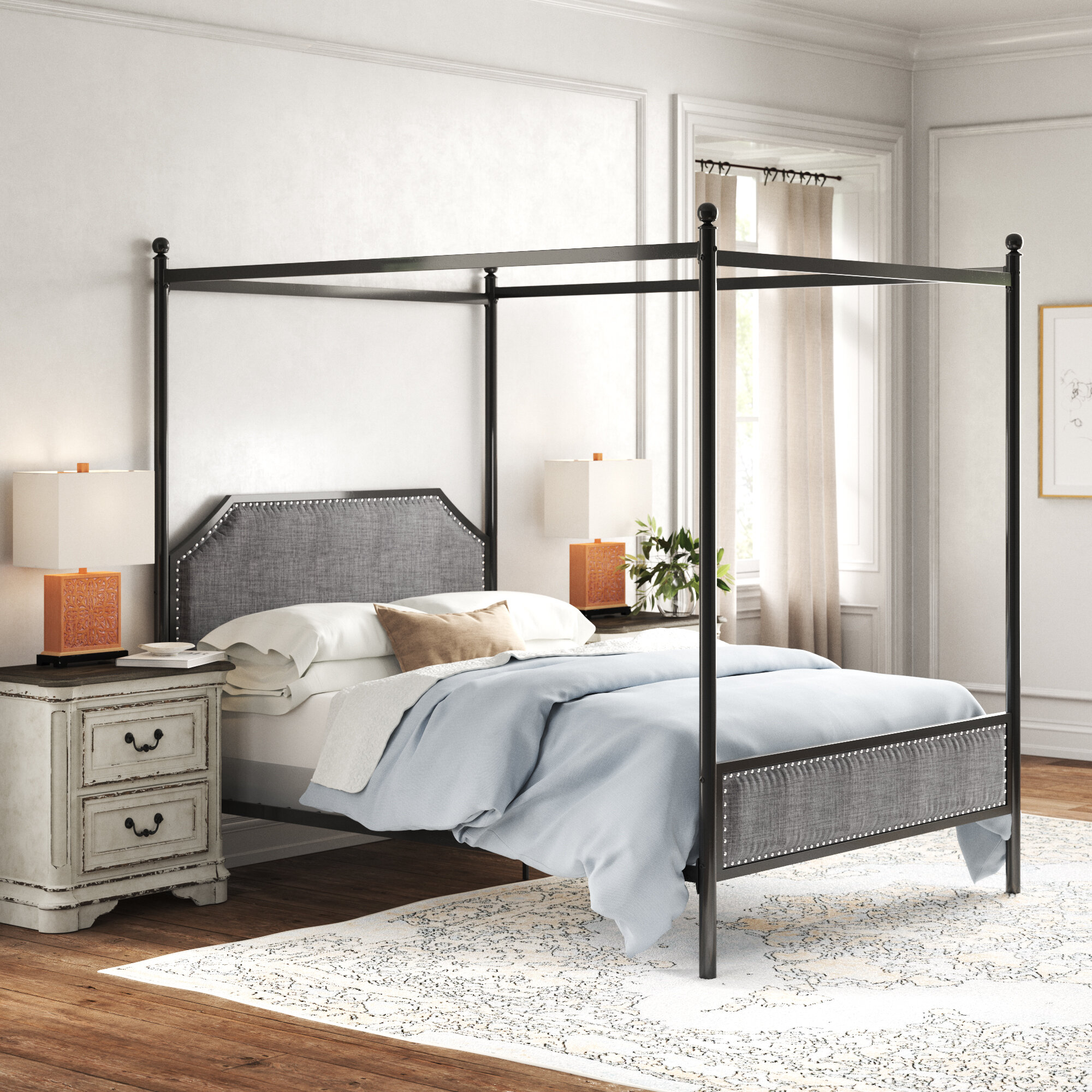 Kelly Clarkson Home Lina Metal Queen Canopy Bed Reviews Wayfair
