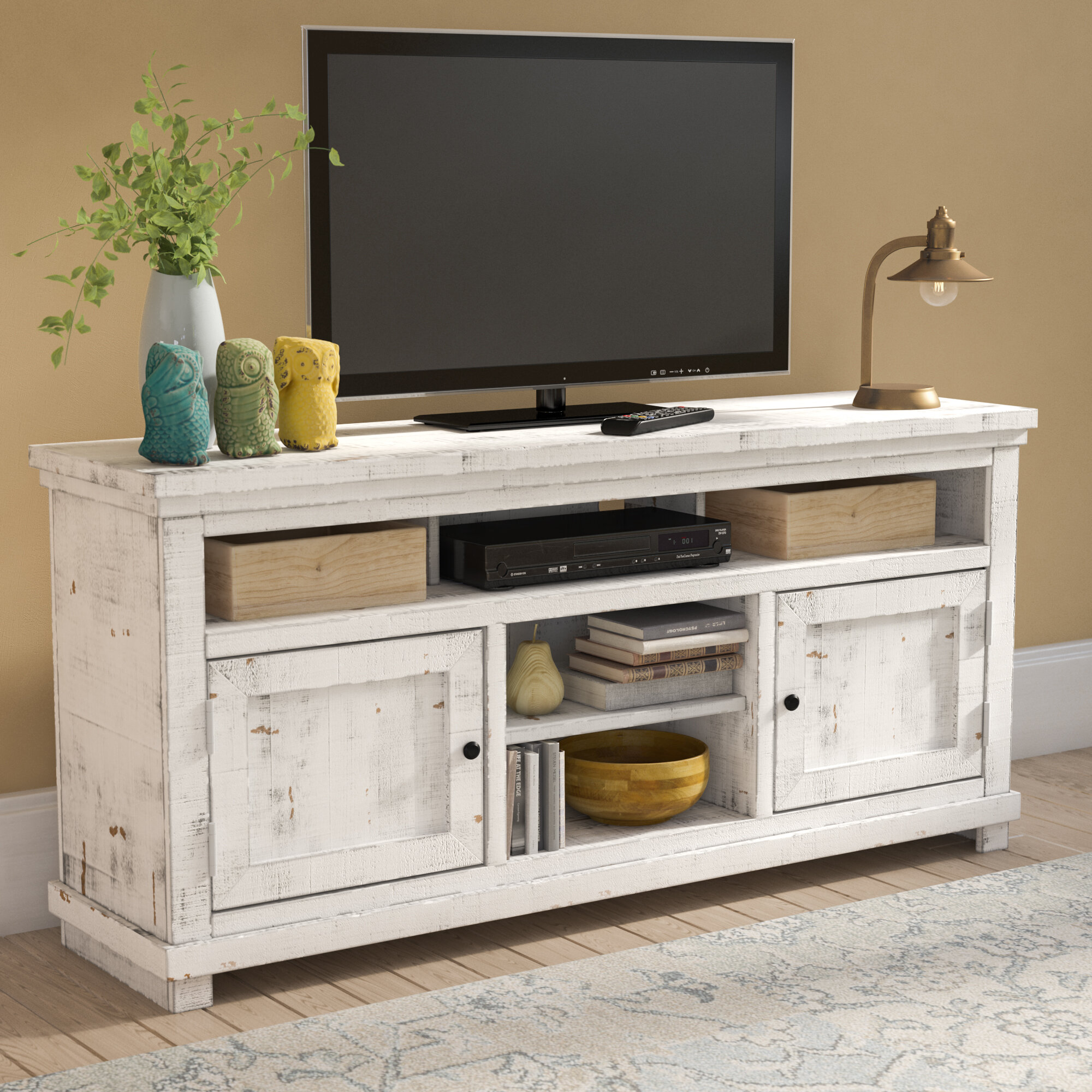 Rustic White Tv Stands Entertainment Centers You Ll Love In 2020 Wayfair