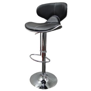 Itzel Adjustable Height Swivel Bar Stool (Set of 2) Orren Ellis