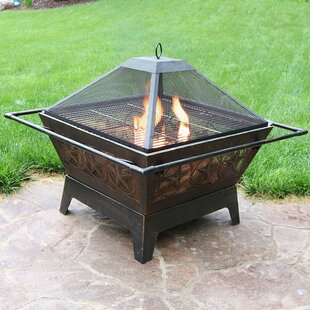 August Grove Furtado Steel Wood Burning F..