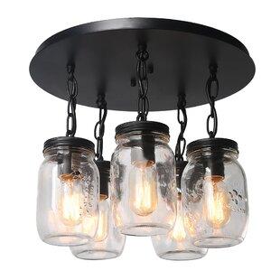 Bargain Armande 5-Light Cluster Pendant By Gracie Oaks
