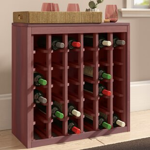 Karnes Redwood Deluxe 36 Bottle Floor Wine Rack