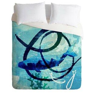 East Urban Home Ocean Swirl Duvet Cover Set