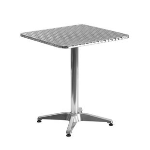 Ebern Designs Alaric Square Indoor Outdoor Aluminum Bistro Table