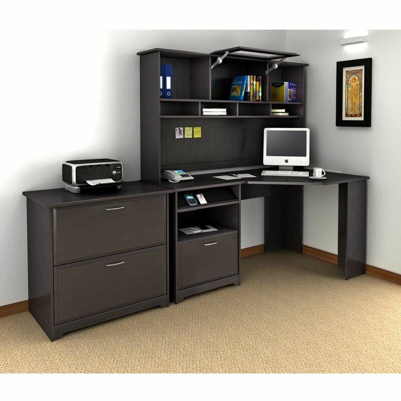 default_name - Red Barrel Studio Hillsdale Corner Executive Desk With Hutch