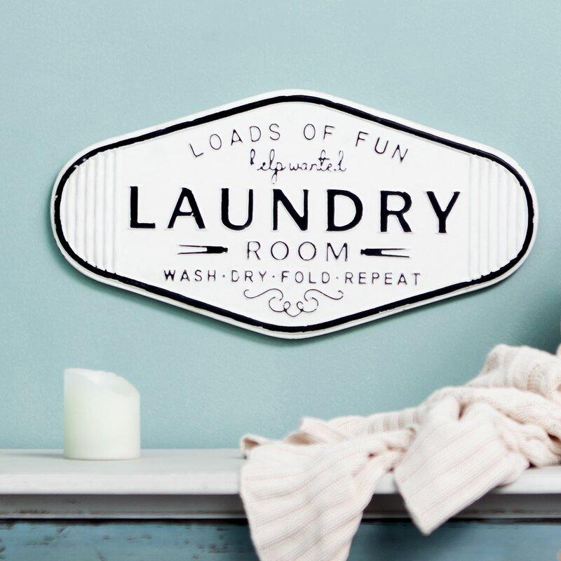 Rosalind Wheeler Embossed Laundry Room Wall Decor Reviews Wayfair