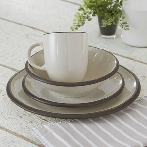Hampshire Watmough 16 Piece Dinnerware Set, Service for 4