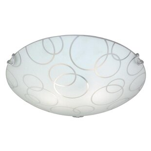 Online Reviews Barela 2-Light Flush Mount By Ebern Designs