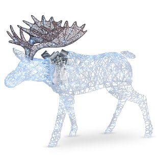 Pre Lit Moose Decoration Lighted Display