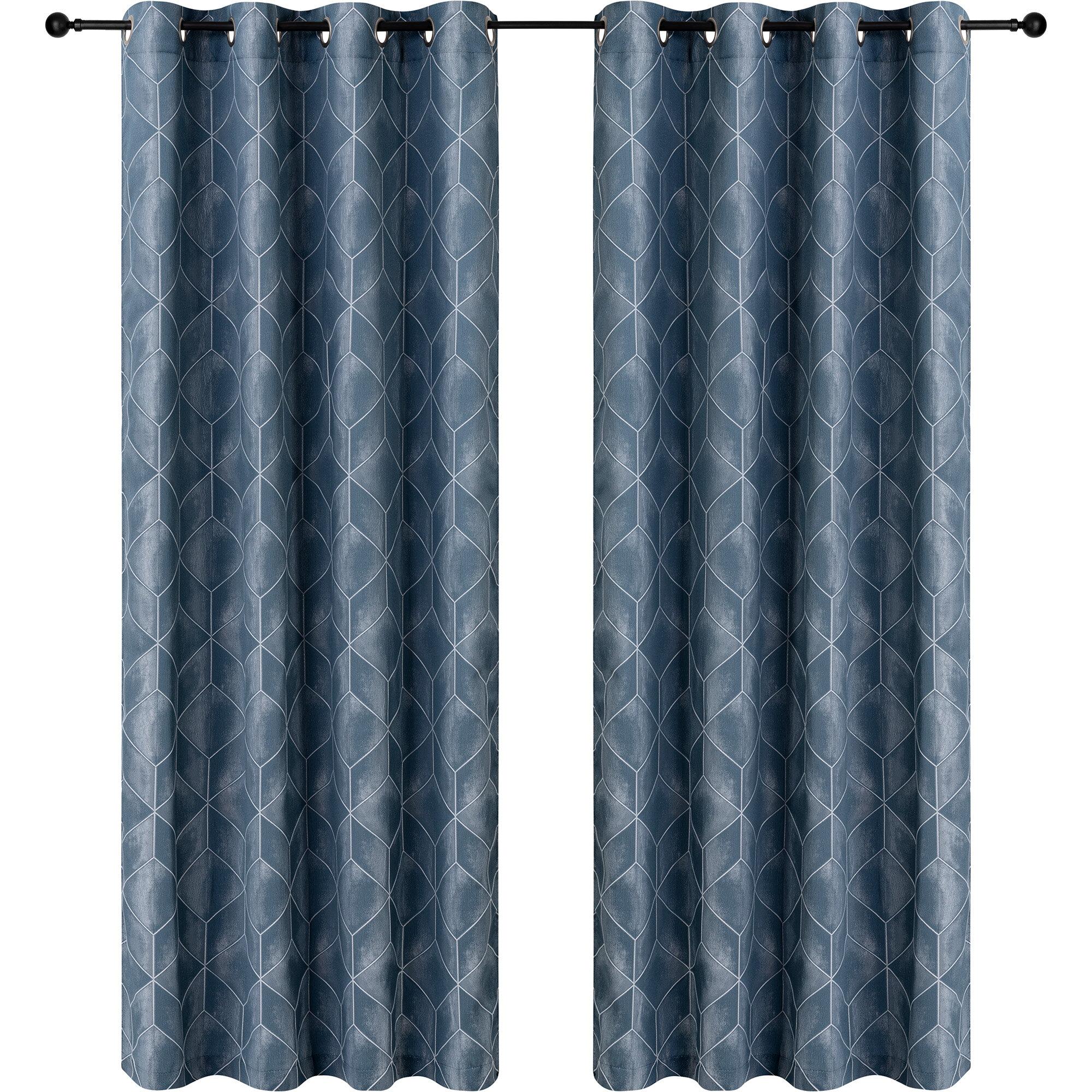 Safdie Co Inc Geometric Blackout Grommet Curtain Panels Reviews Wayfair