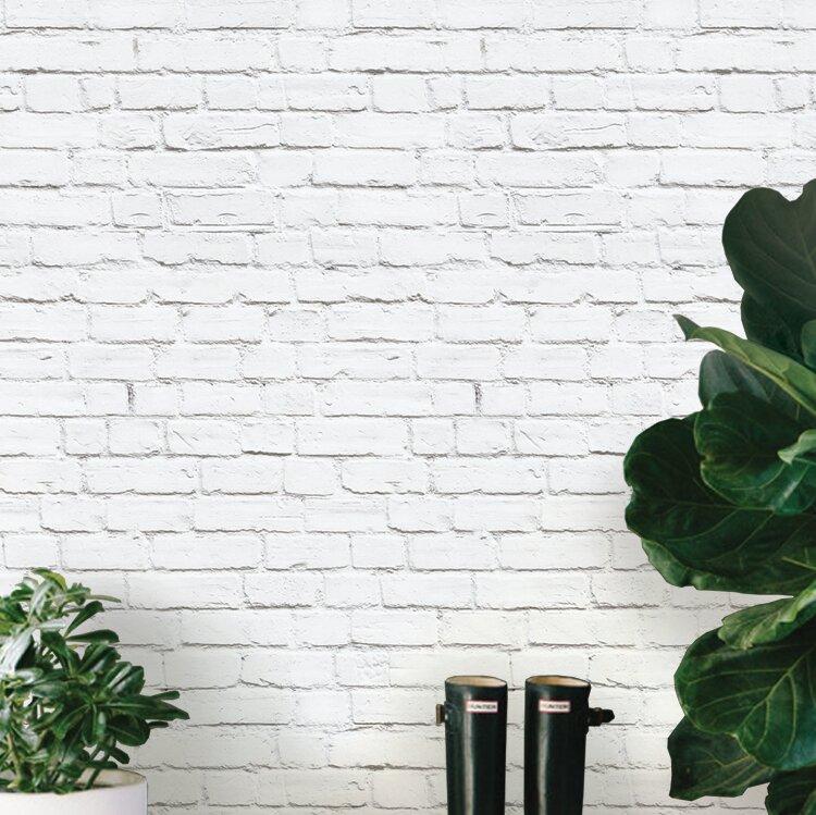 Mckeown Modern Clean Look Brick 4 L X 24 W And Stick Wallpaper