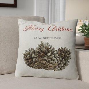 Laurelynn Pine Cone Christmas Throw Pillow