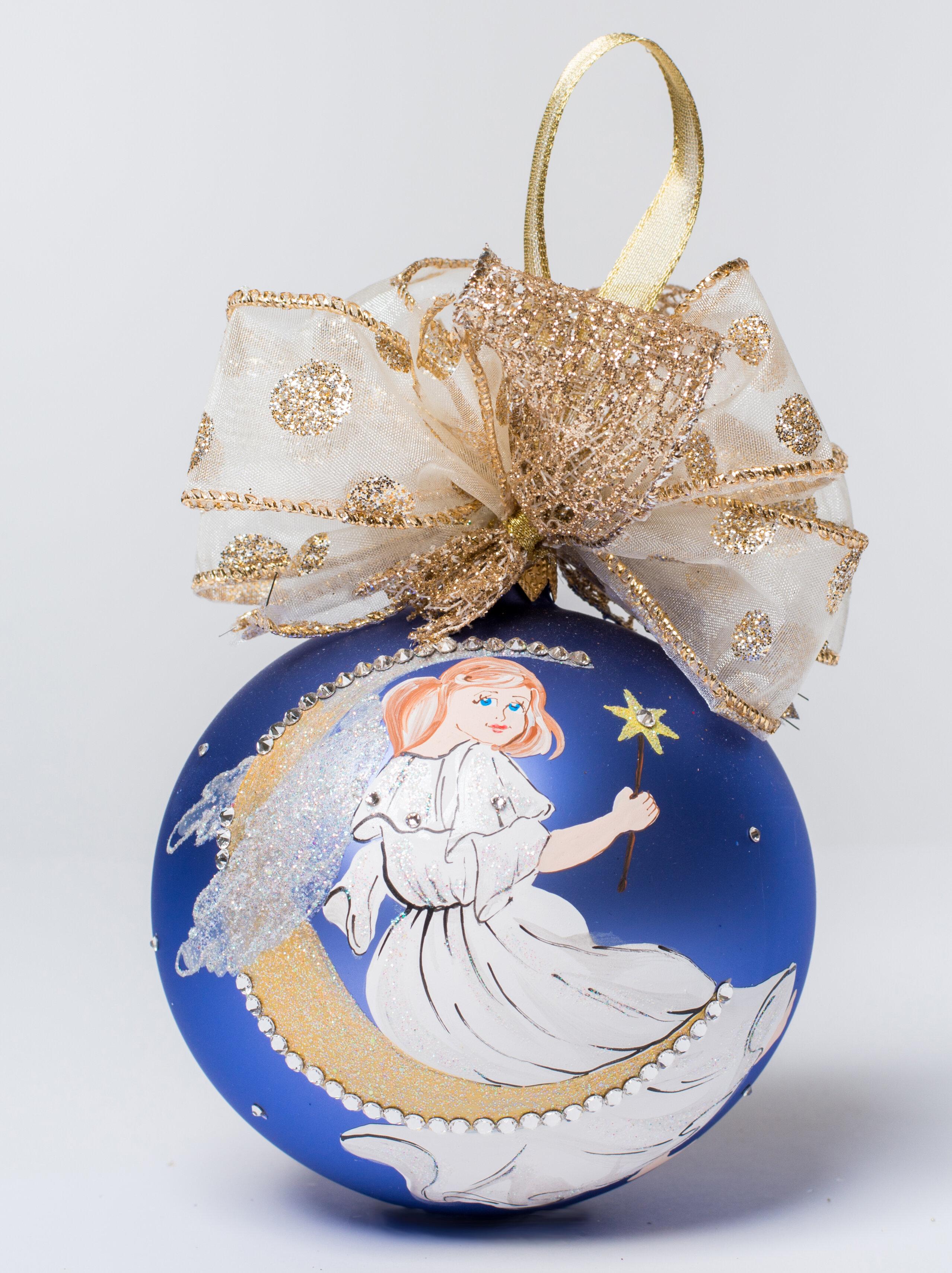 The Holiday Aisle Moonlight Angel Ball Ornament Wayfair