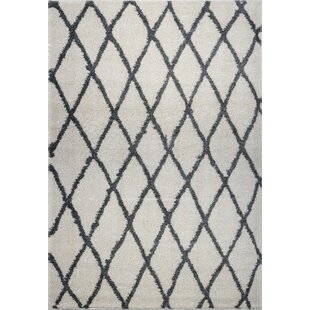 Fancy Trellis Gray/Black Area Rug By Brayden Studio