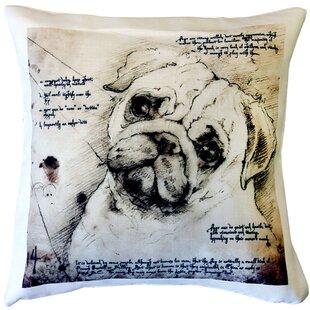 Kivett Pug Dog Indoor/Outdoor Throw Pillow