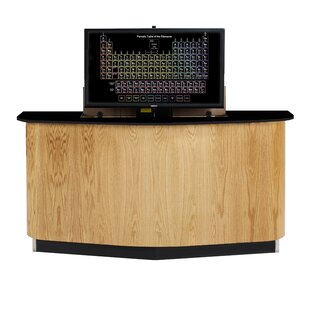 Versacurve Resin Executive Desk by Diversified Woodcrafts Today Only Sale