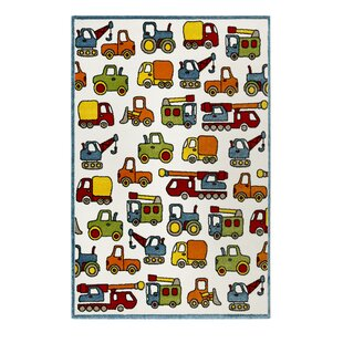 Vehicles Green/Red/Orange Rug by EspritHome